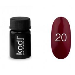 Гель-краска Kodi Professional 20, цвет спелая вишня, 4 мл