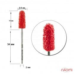 Насадка для педикюра Композит, колпак красный 5 мм (R 50)