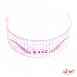 Линейка для построения идеальной формы бровей КМС, розовая