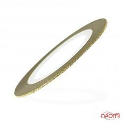 Лента-скотч бархатная для ногтей, цвет золото, 1 мм