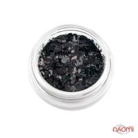 Декор для ногтей ромбики мелкие, цвет черный, в баночке