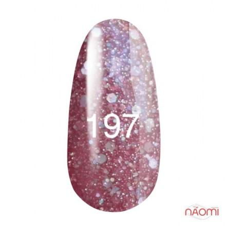 Гель-лак Kodi Professional 197 розовый с перламутром блестками, 8 мл, фото 1, 135.00 грн.