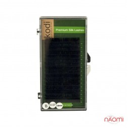 Вії Kodi professional Green B 0.07 (16 рядів: 14 мм), чорні