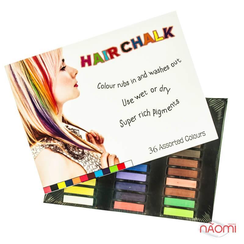 Мелки для волос Hair Chalking, 36 шт., фото 3, 199.00 грн.