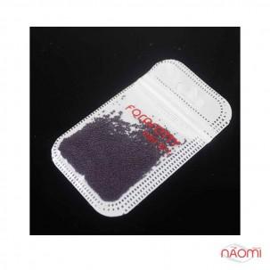 Бульонки для украшения ногтей, цвет баклажан, в пакетике, 2,5 г