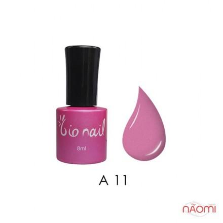 Гель лак BioNail A 011 Pearl Pink Sugar теплый розовый, с перламутром и шиммерами, 8 мл, фото 1, 194.00 грн.