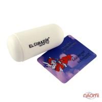 Односторонний силиконовый штамп и скрапер для стемпинга El Corazon № K-sst-16, белый