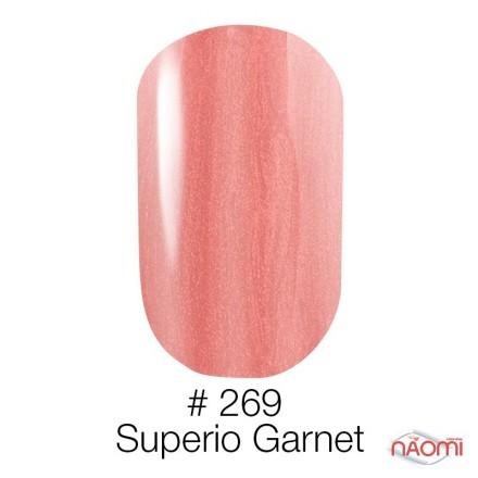 Гель-лак Naomi 269  Superio Garnet лососевый с перламутром, 6 мл, фото 1, 95.00 грн.