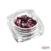 Декор для нігтів зірочки Salon Professional, колір марсала