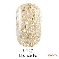 Гель-лак Naomi 127  Bronze Foil золотая слюда, 6 мл