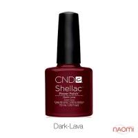 CND Shellac Dark Lava бордовый с блеском, 7,3 мл