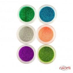 Глітерний пісок в баночці MIX, Salon Professional, набір 6 шт.