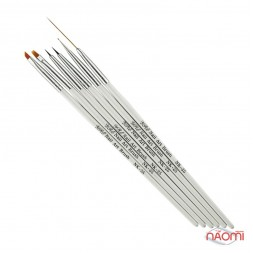Набор кистей для рисования с дотсом Yre Nail Art Brush NK 25, 6 шт.