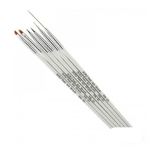 Набір пензлів для малювання з дотсом Yre Nail Art Brush NK 25, 6 шт., фото 1, 105.00 грн.