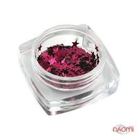 Декор для ногтей звездочки Salon Professional, цвет темно-розовый