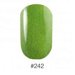 Лак Naomi 242 Aurora салатовый с шиммерами, 12 мл
