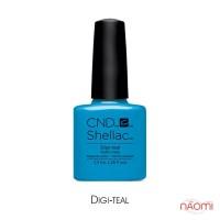 CND Shellac Art Vandal Digi-teal ярко-голубой, 7,3 мл