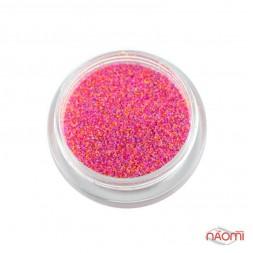 Декор для ногтей сахарный мармелад (меланж) флуоресцентный № 04, цвет розовый, 1 г