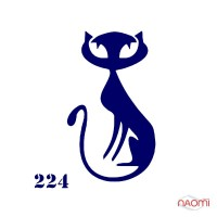 """Трафарет для тимчасового тату """"Кішечки"""" №224 6х6 см"""