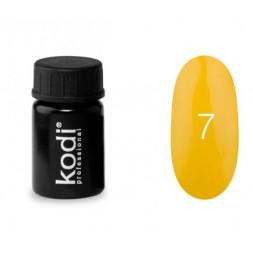 Гель-краска Kodi Professional 07, цвет насыщенный желтый, 4 мл