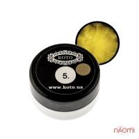 3D Гель-пластилин KOTO 05 желтый, 5 г