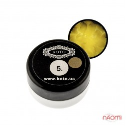 3D Гель-пластилін KOTO 05 жовтий, 5 г
