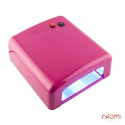 УФ лампа для ногтей 36W YRE L-13, таймер на 120 сек. и режим бескон.и, цвет тёмно-розовый