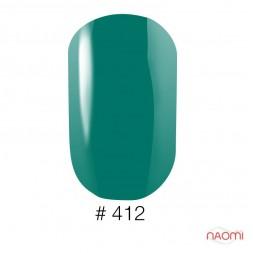 Лак Naomi 412 зеленый, 12 мл