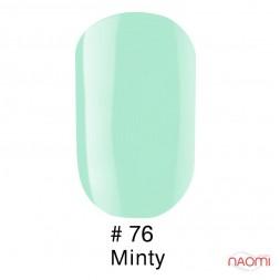 Гель-лак Naomi 076  Minty Fresh  молочно-салатовый, 6 мл