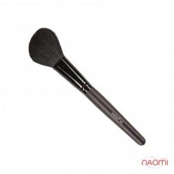 Кисть для макияжа PARISA Р04, для скульптурирования лица, скошенная, натуральный ворс козы