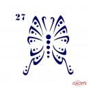 Трафарет для временного тату Креативные и стильные №27 6х6 см, фото 1, 5.00 грн.