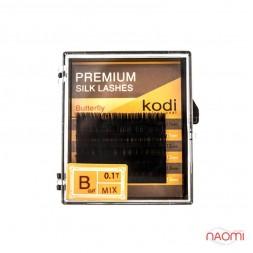 Ресницы Kodi professional Butterfly B 0.10 (6 рядов: 11-2, 12-2, 13-2 мм), черные