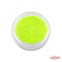 Декор для нігтів цукровий мармелад (меланж) флуоресцентний № 03, колір лимонний, 1 г