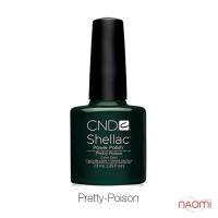 CND Shellac Pretty Poison темно-зелений, 7,3 мл