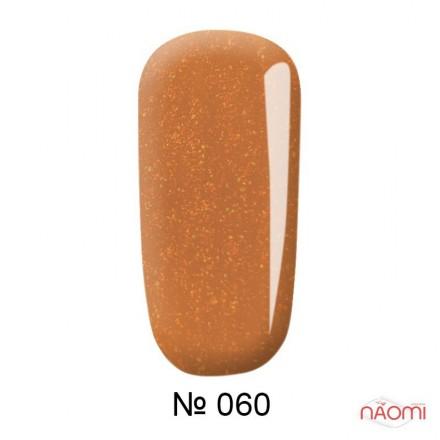Гель-лак F.O.X Pigment 060 оранжевый, с салатово-золотистыми шиммерами, 6 мл, фото 1, 105.00 грн.