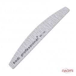 Пилка для ногтей Kodi Professional 80/100 Half Grey, полукруг