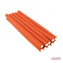 Бигуди-папильотки YRE PPL-00 (235х14мм) оранжевые в наборе 10 шт.