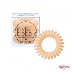 Резинка-браслет для волос Invisibobble ORIGINAL To Be or Nude to Be, цвет бежевый, 30х16 мм, 3 шт.