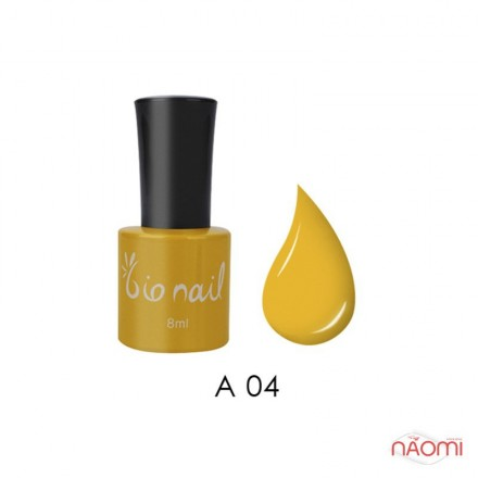 Гель лак BioNail A 004 Yellow желтый, эмалевый, 8 мл, фото 1, 194.00 грн.