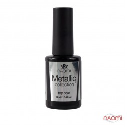 Топ для гель-лака Naomi Metallic Collection, Top Coat 12 мл