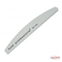 Пилка-баф для ногтей Kodi Professional 180/220 Half Grey, полукруг