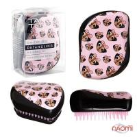 Расческа Tangle Teezer Compact Styler Pug Love цвет розовый