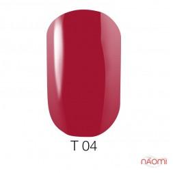 Лак Naomi T004 вишневый полупрозрачный, 12 мл