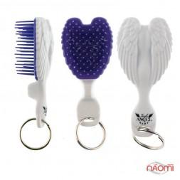 Расческа-брелок Tangle ANGEL-BABY Brush, цвет бело-фиолетовый