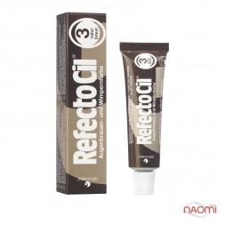 Фарба для брів і вій RefectoCil №3 Natural Brown, колір коричневий, 15 мл