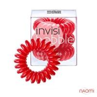 Резинка-браслет для волос Invisibobble ORIGINAL, цвет красный, 30х16 мм, 3 шт.