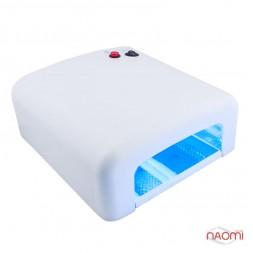 УФ лампа для ногтей 36W Global Fashion 818, таймер на 120 сек. и режим бесконечности, цвет белый