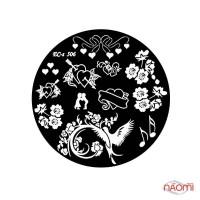 Диск для стемпинга El Corazon EC-s 506 Цветы, сердца