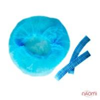 Шапочка Гофре, колір блакитний, в упаковці 5 шт.