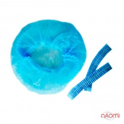 Шапочка Гофре, цвет голубой, 5 шт.